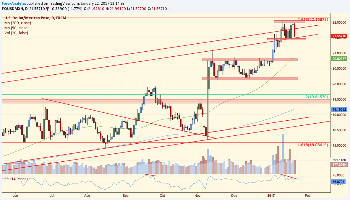 Usdmxn multiple signs point to a reversal forexanalytix blog usdmxn daily chart geenschuldenfo Image collections